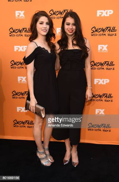 Actress Amber Midthunder arrives at the premiere of FX's 'Snowfall' at The Theatre at Ace Hotel on June 26 2017 in Los Angeles California