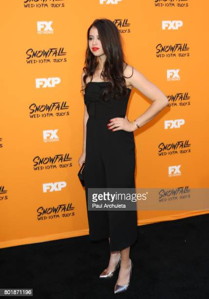 Actress Amber Midthunder attends the premiere of FX's 'Snowfall' at The Theatre at Ace Hotel on June 26 2017 in Los Angeles California