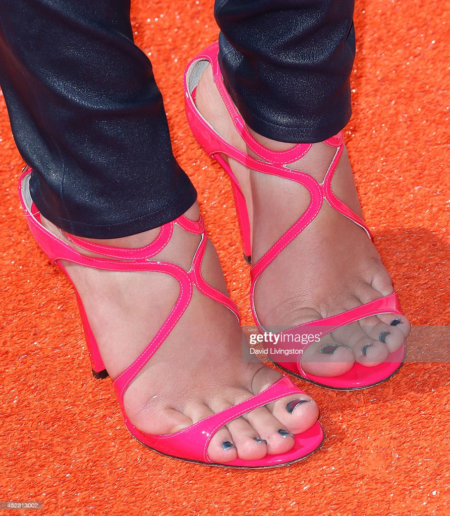 Actress Amber Montana (shoe detail) attends the Nickelodeon Kids' Choice Sports Awards 2014 at Pauley Pavilion on July 17, 2014 in Los Angeles, California.