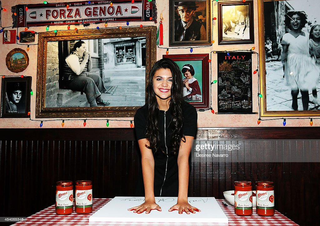 Actress <a gi-track='captionPersonalityLinkClicked' href=/galleries/search?phrase=Amber+Montana&family=editorial&specificpeople=10612049 ng-click='$event.stopPropagation()'>Amber Montana</a> visits Buca di Beppo Times Square on August 23, 2014 in New York City.