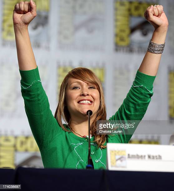 Actress Amber Nash speaks onstage at the 'Archer' screening and QA during ComicCon International 2013 at Hilton San Diego Bayfront Hotel on July 19...