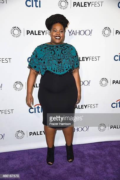 Actress Amber Riley arrives at The Paley Center For Media's 32nd Annual PALEYFEST LA 'Glee' at Dolby Theatre on March 13 2015 in Hollywood California