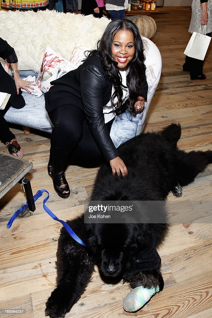 Actress <a gi-track='captionPersonalityLinkClicked' href=/galleries/search?phrase=Amber+Riley&family=editorial&specificpeople=5662111 ng-click='$event.stopPropagation()'>Amber Riley</a> attends 'A Letter To My Dog: Notes To Our Best Friends' Cocktail Party And Book Signing at Anthropologie on April 4, 2013 in Beverly Hills, California.