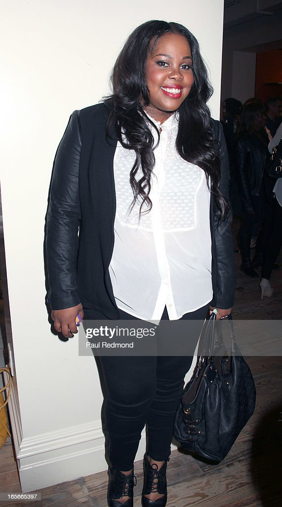 Actress Amber Riley attends 'A Letter To My Dog: Notes To Our Best Friends' cocktail party and book signing at Anthropologie on April 4, 2013 in Beverly Hills, California.