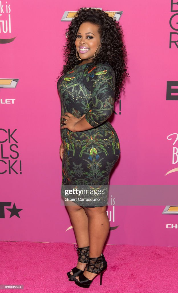 Actress <a gi-track='captionPersonalityLinkClicked' href=/galleries/search?phrase=Amber+Riley&family=editorial&specificpeople=5662111 ng-click='$event.stopPropagation()'>Amber Riley</a> attends Black Girls Rock! 2013 at New Jersey Performing Arts Center on October 26, 2013 in Newark, New Jersey.