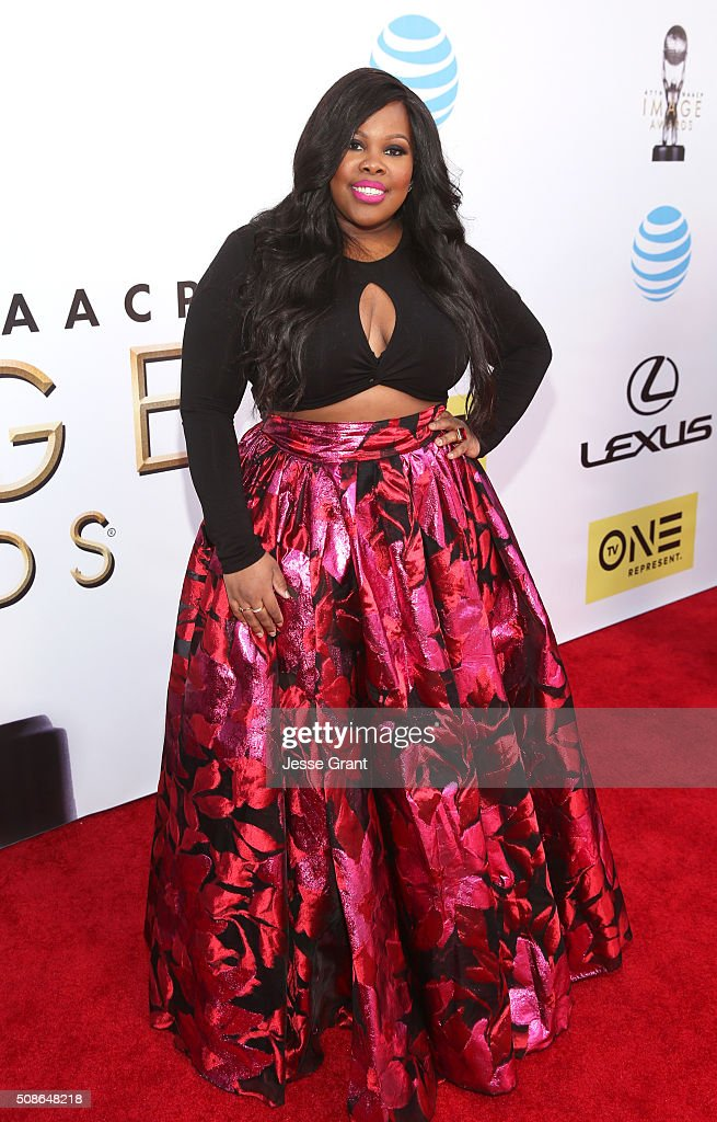 Actress Amber Riley attends the 47th NAACP Image Awards presented by TV One at Pasadena Civic Auditorium on February 5, 2016 in Pasadena, California.