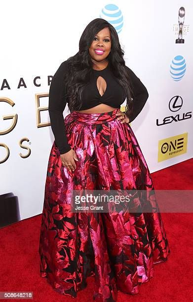 Actress Amber Riley attends the 47th NAACP Image Awards presented by TV One at Pasadena Civic Auditorium on February 5 2016 in Pasadena California