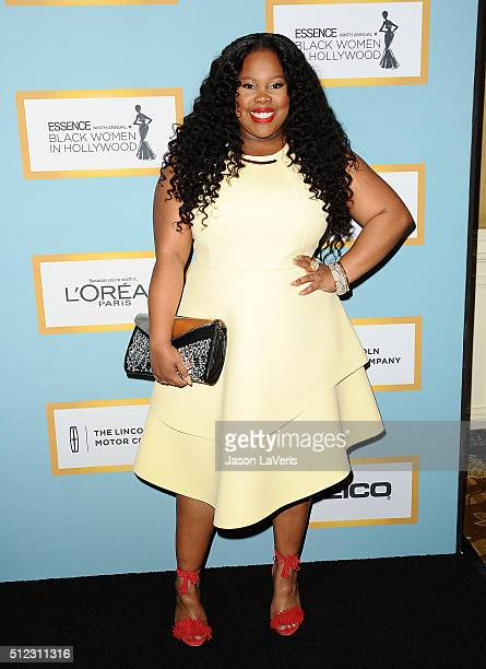 Actress Amber Riley attends the Essence 9th annual Black Women In Hollywood event at the Beverly Wilshire Four Seasons Hotel on February 25 2016 in...