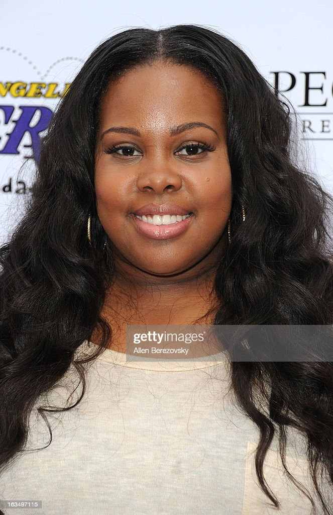 Actress Amber Riley attends the Lakers Casino Night fundraiser benefiting the Lakers Youth Foundation at Club Nokia on March 10, 2013 in Los Angeles, California.