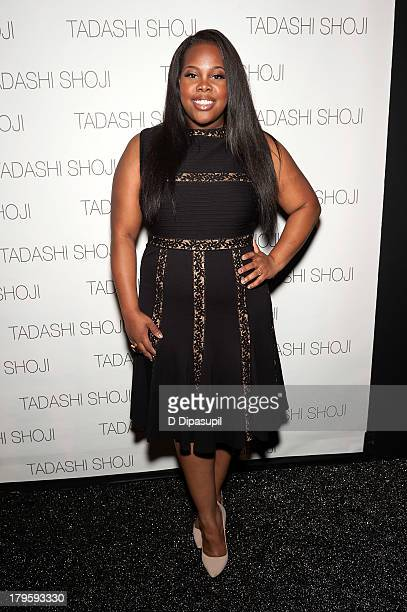 Actress Amber Riley attends the Tadashi Shoji Spring 2014 fashion show at The Stage Lincoln Center on September 5 2013 in New York City