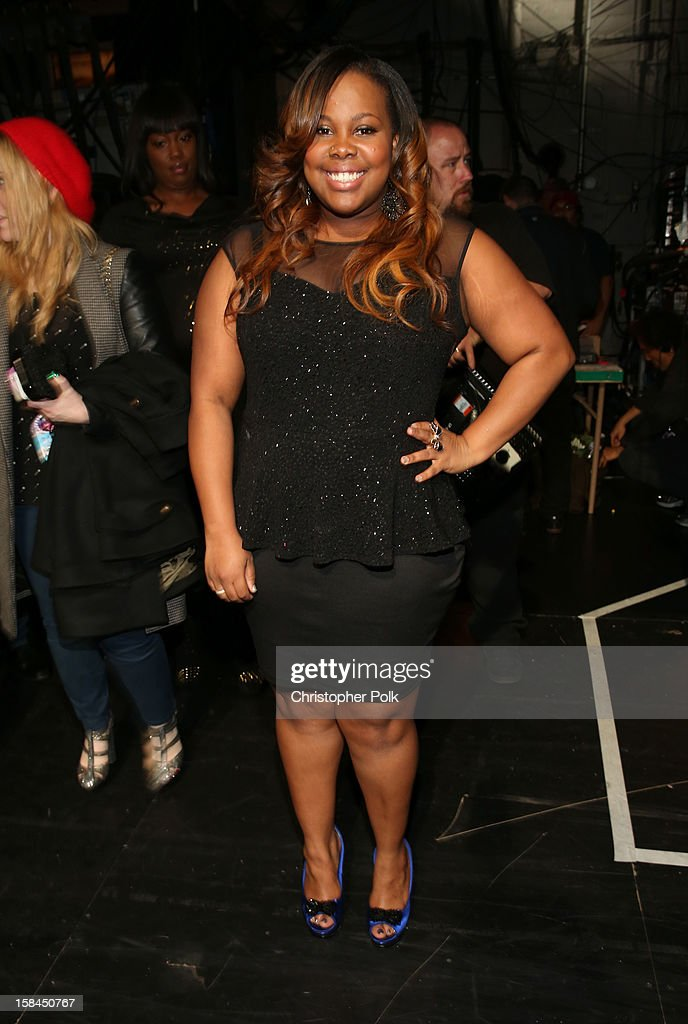 Actress Amber Riley attends 'VH1 Divas' 2012 at The Shrine Auditorium on December 16, 2012 in Los Angeles, California.