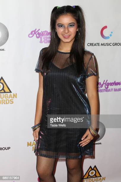 Actress Amber Romero attends social media star Kristen Hancher's Big 18th Birthday Bash at Bootsy Bellows on May 18 2017 in West Hollywood California