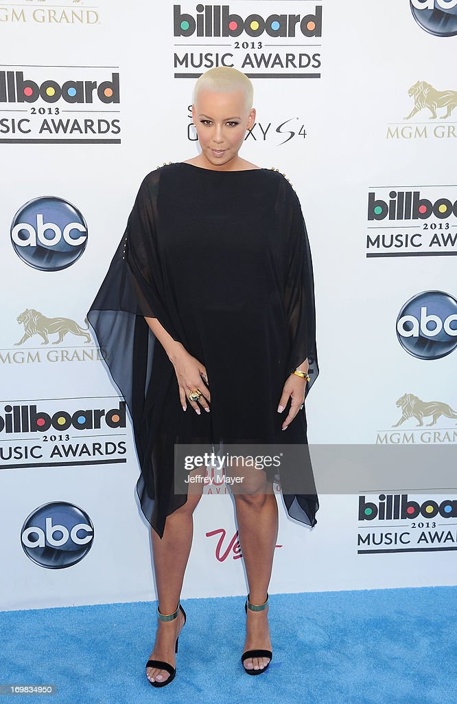 Actress Amber Rose arrives at the 2013 Billboard Music Awards at the MGM Grand Garden Arena on May 19, 2013 in Las Vegas, Nevada.
