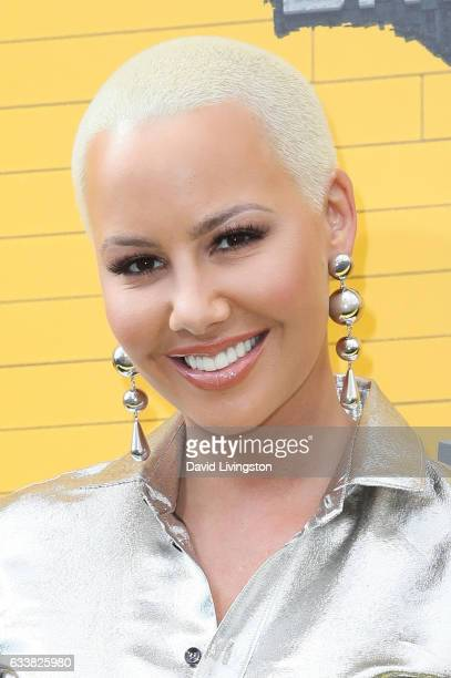 Actress Amber Rose attends the Premiere of Warner Bros Pictures' 'The LEGO Batman Movie' at the Regency Village Theatre on February 4 2017 in...
