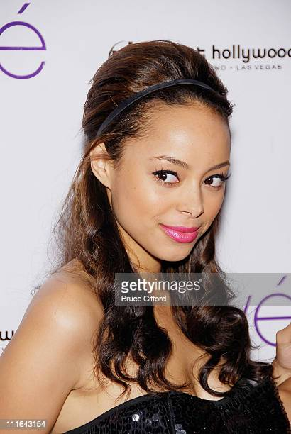 Actress Amber Stevens arrives at Prive Las Vegas inside the Planet Hollywood Resort Casino on March 6 2009 in Las Vegas Nevada