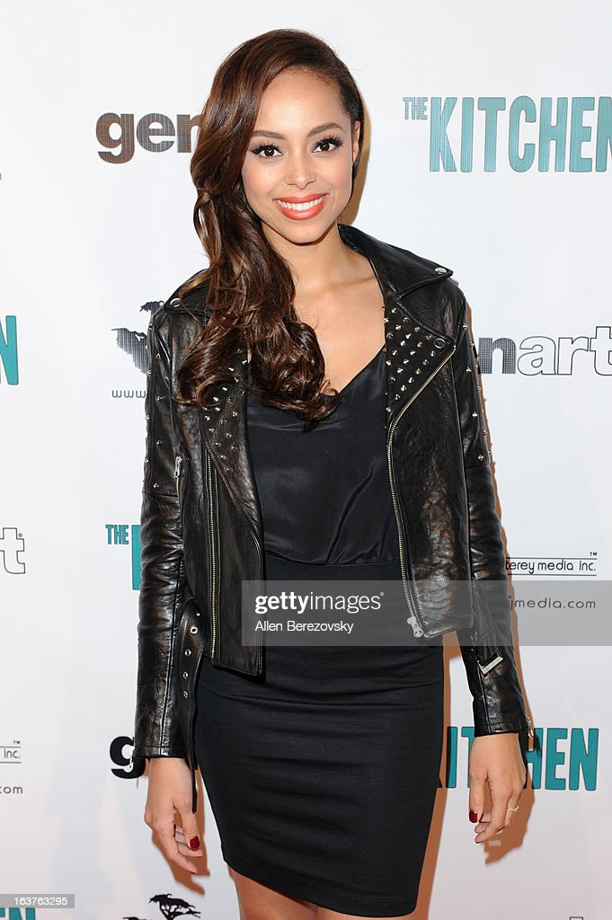 Actress Amber Stevens arrives at the Los Angeles premiere of 'The Kitchen' at Laemmle NoHo 7 on March 14, 2013 in North Hollywood, California.