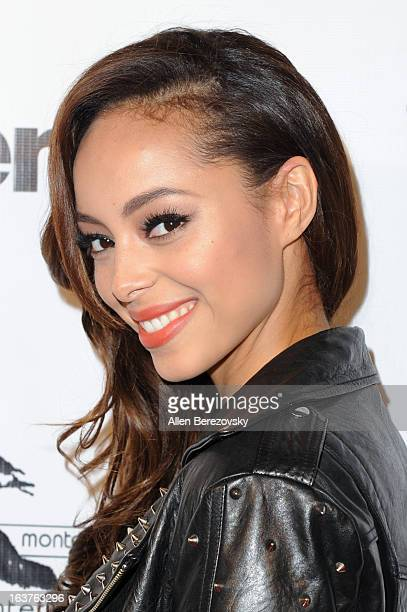 Actress Amber Stevens arrives at the Los Angeles premiere of 'The Kitchen' at Laemmle NoHo 7 on March 14 2013 in North Hollywood California
