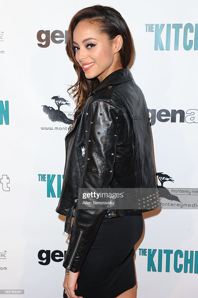 Actress <a gi-track='captionPersonalityLinkClicked' href=/galleries/search?phrase=Amber+Stevens&family=editorial&specificpeople=4152761 ng-click='$event.stopPropagation()'>Amber Stevens</a> arrives at the Los Angeles premiere of 'The Kitchen' at Laemmle NoHo 7 on March 14, 2013 in North Hollywood, California.