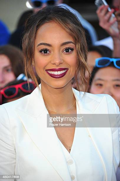 Actress Amber Stevens arrives at the Premiere Of Columbia Pictures' '22 Jump Street' at Regency Village Theatre on June 10 2014 in Westwood California