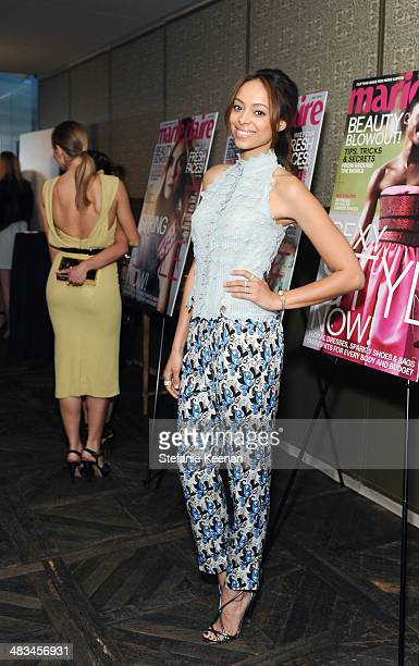 Actress Amber Stevens attends Marie Claire Celebrates May Cover Stars on April 8 2014 in West Hollywood California