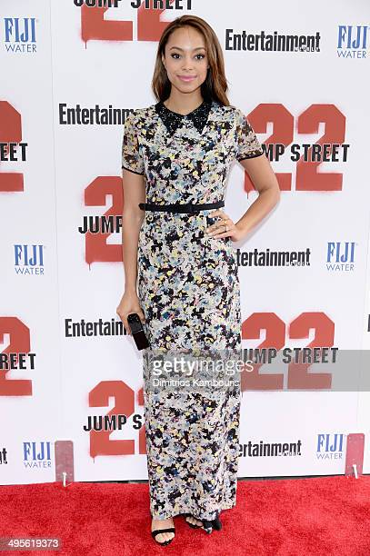 Actress Amber Stevens attends the New York screening of '22 Jump Street' at AMC Lincoln Square Theater on June 4 2014 in New York City