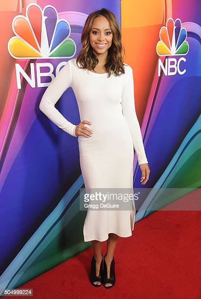 Actress Amber Stevens West arrives at the 2016 NBCUniversal Winter TCA Press Tour at Langham Hotel on January 13 2016 in Pasadena California
