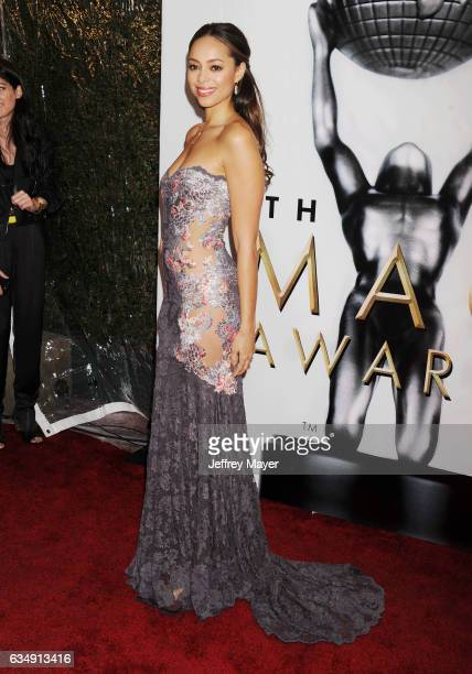 Actress Amber Stevens West arrives at the 48th NAACP Image Awards at Pasadena Civic Auditorium on February 11 2017 in Pasadena California