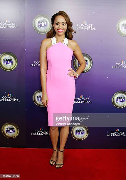 Actress Amber Stevens West attends NBCUniversal Short Film Festival hosted by DL Hughley at Directors Guild Of America on October 21 2015 in Los...