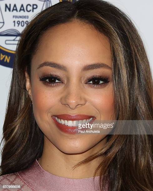 Actress Amber Stevens West attends the 48th NAACP Image Awards Nominees' luncheon at Loews Hollywood Hotel on January 28 2017 in Hollywood California
