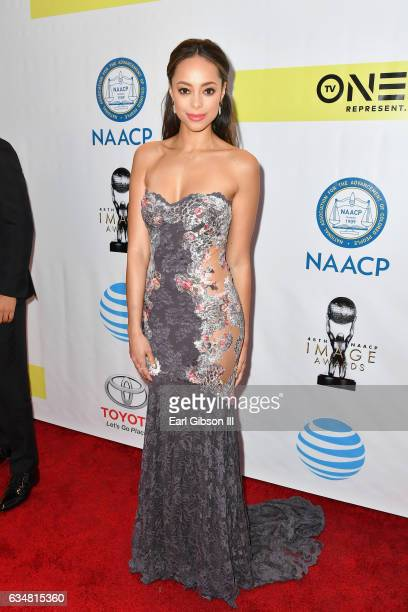 Actress Amber Stevens West attends the 48th NAACP Image Awards at Pasadena Civic Auditorium on February 11 2017 in Pasadena California