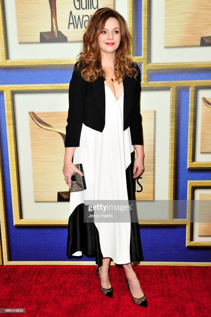 Actress <a gi-track='captionPersonalityLinkClicked' href=/galleries/search?phrase=Amber+Tamblyn&family=editorial&specificpeople=202906 ng-click='$event.stopPropagation()'>Amber Tamblyn</a> arrives at the 2014 Writers Guild Awards L.A. Ceremony at JW Marriott Los Angeles at L.A. LIVE on February 1, 2014 in Los Angeles, California.