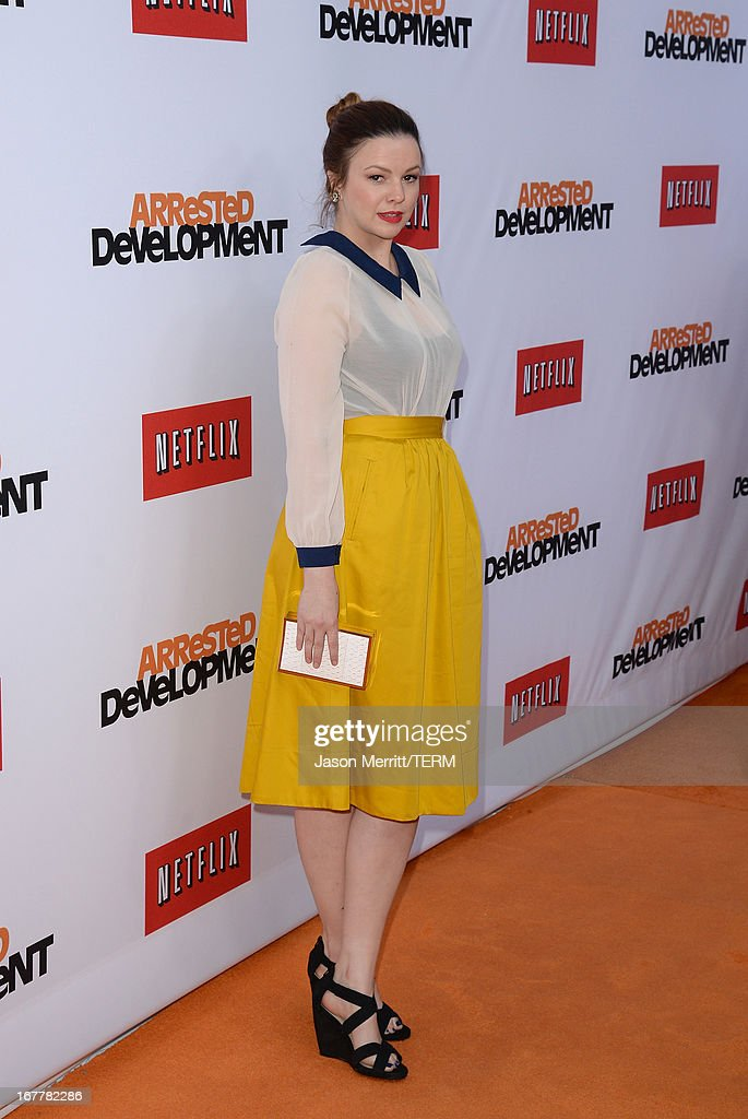 Actress Amber Tamblyn arrives at the TCL Chinese Theatre for the premiere of Netflix's 'Arrested Development' Season 4 held on April 29, 2013 in Hollywood, California.