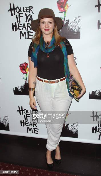 Actress Amber Tamblyn attends 'Holler If Ya Hear Me' opening night at Palace Theatre on June 19 2014 in New York City