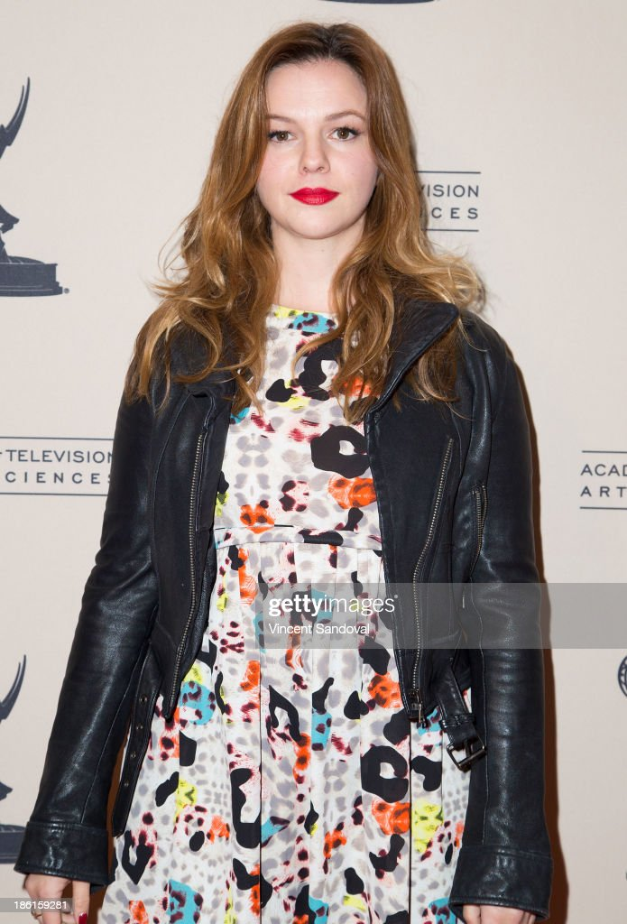 Actress <a gi-track='captionPersonalityLinkClicked' href=/galleries/search?phrase=Amber+Tamblyn&family=editorial&specificpeople=202906 ng-click='$event.stopPropagation()'>Amber Tamblyn</a> attends The Prime Time Closet - A History of Gays and Lesbians on TV at Academy of Television Arts & Sciences on October 28, 2013 in North Hollywood, California.