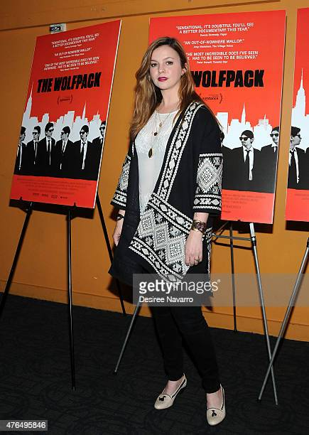 Actress Amber Tamblyn attends 'The Wolfpack' New York Premiere at Sunshine Landmark on June 9 2015 in New York City