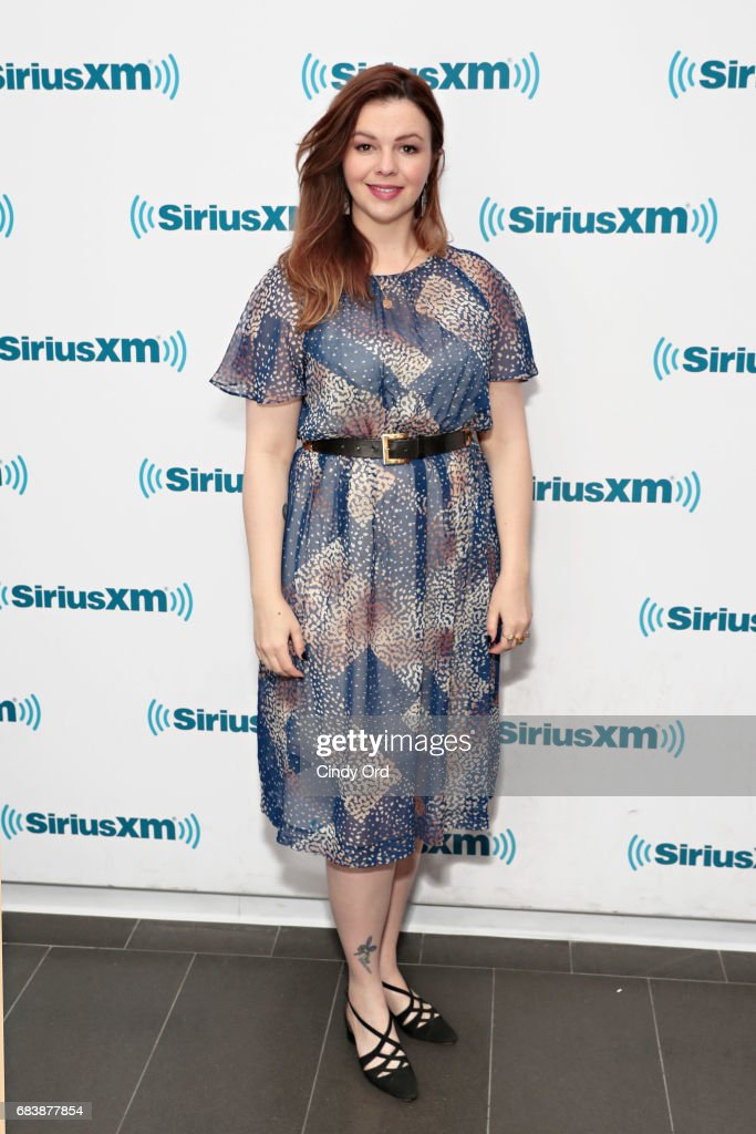 Actress Amber Tamblyn visits the SiriusXM Studios on May 16, 2017 in New York City.