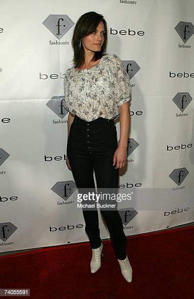 Actress Amber Valetta arrives at Fashion TV's Tenth Anniversary Celebration at Social Hollywood on May 2 2007 in Los Angeles California