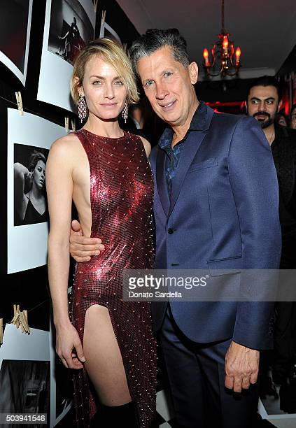 Actress Amber Valletta and W Magazine Editor in Chief Stefano Tonchi attend the W Magazine celebration of the 'Best Performances' Portfolio and The...