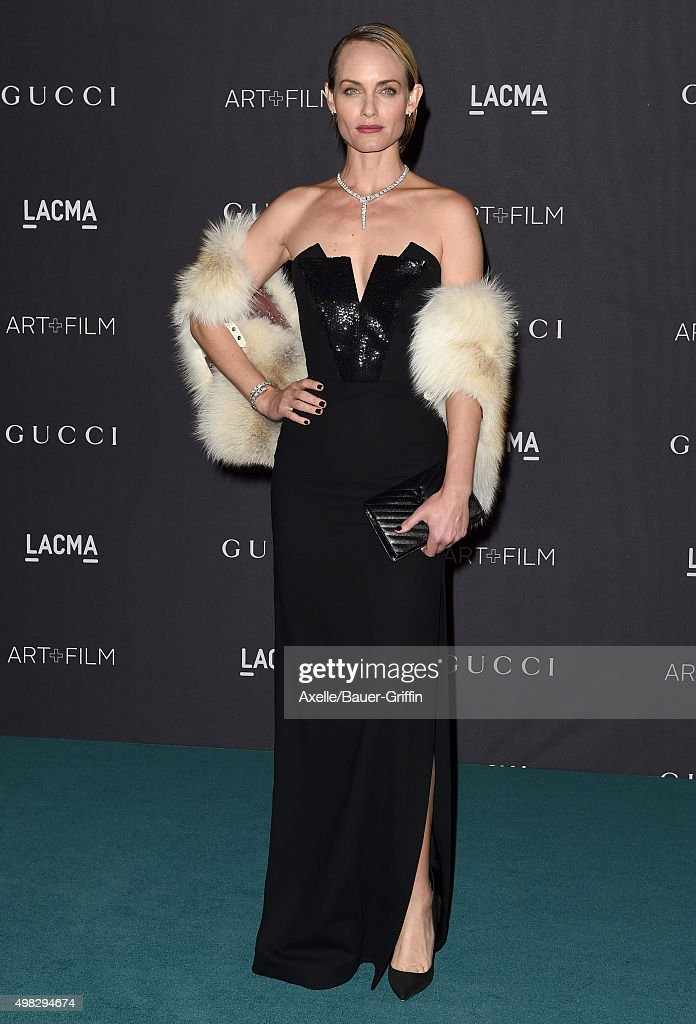 Actress Amber Valletta arrives at the LACMA 2015 ArtFilm Gala Honoring James Turrell And Alejandro G Inarritu Presented By Gucci at LACMA on November...