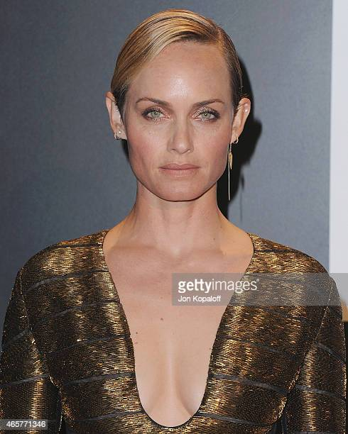 Actress Amber Valletta arrives at Tom Ford Autumn/Winter 2015 Womenswear Collection Presentation at Milk Studios on February 20 2015 in Los Angeles...