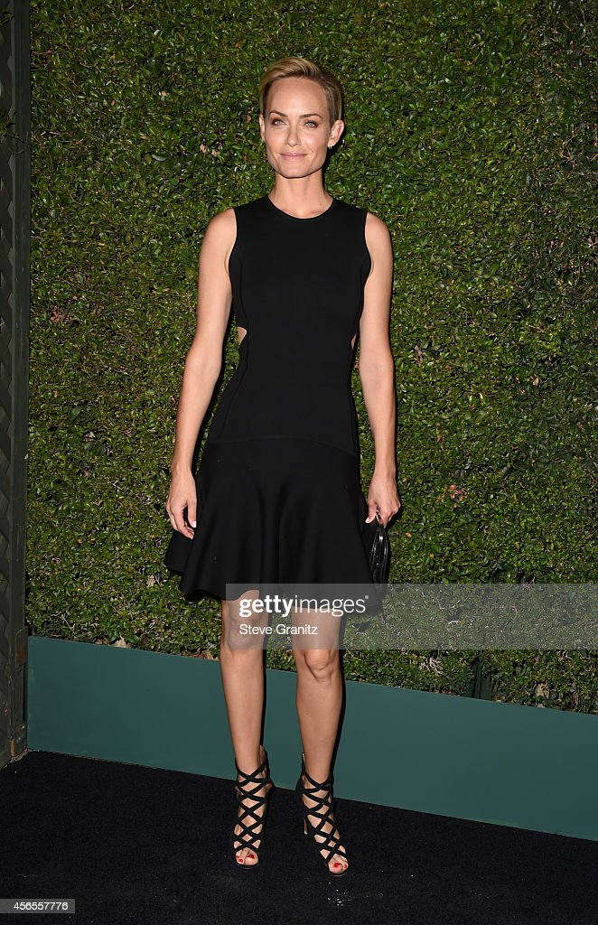 Actress Amber Valletta attends Claiborne Swanson Frank's Young Hollywood book launch hosted by Michael Kors at Private Residence on October 2 2014 in...