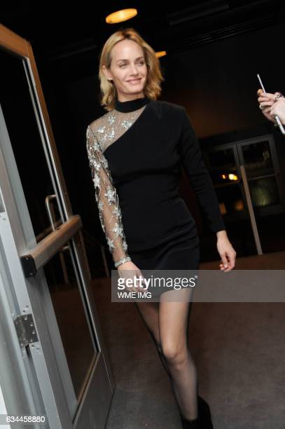 Actress Amber Valletta attends Etihad Airways Toasts New York Fashion Week 2017 at Skylight Clarkson Sq on February 9 2017 in New York City