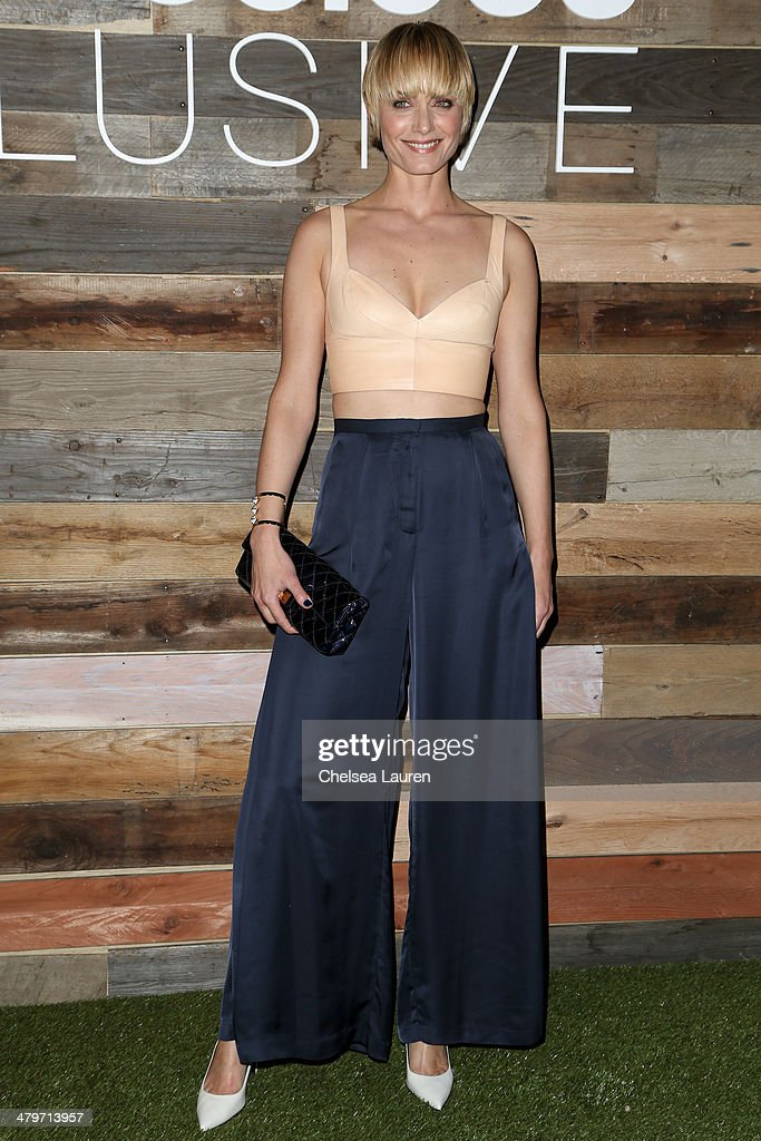 Actress Amber Valletta attends H&M Conscious Exclusive Dinner at Eveleigh on March 19, 2014 in West Hollywood, California.