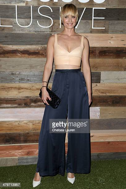 Actress Amber Valletta attends HM Conscious Exclusive Dinner at Eveleigh on March 19 2014 in West Hollywood California