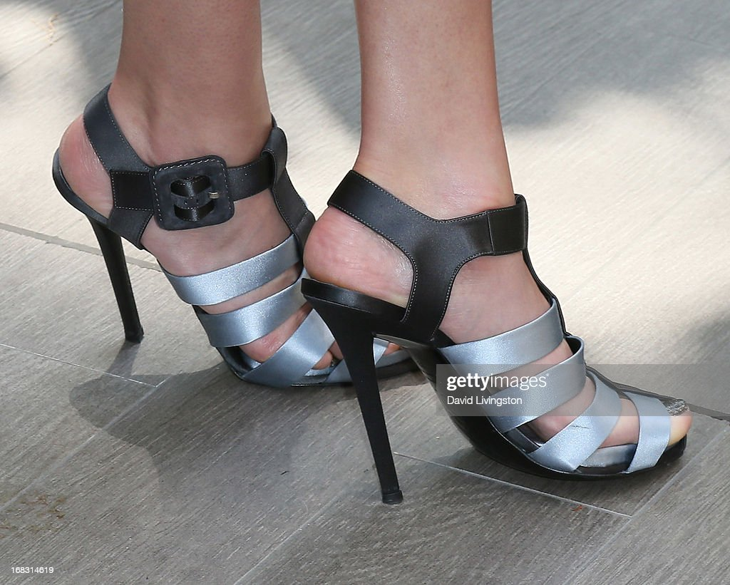 Actress Amber Valletta (shoe detail) attends The Associates For Breast and Prostate Cancer Studies' Annual Mother's Day Luncheon at the Four Seasons Hotel Los Angeles at Beverly Hills on May 8, 2013 in Beverly Hills, California.