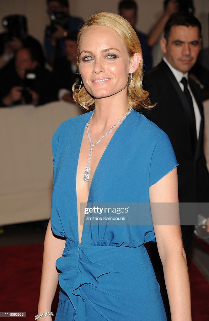Actress <a gi-track='captionPersonalityLinkClicked' href=/galleries/search?phrase=Amber+Valletta&family=editorial&specificpeople=206940 ng-click='$event.stopPropagation()'>Amber Valletta</a> attends the Costume Institute Gala Benefit to celebrate the opening of the 'American Woman: Fashioning a National Identity' exhibition at The Metropolitan Museum of Art on May 3, 2010 in New York City.