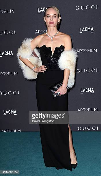 Actress Amber Valletta attends the LACMA Art Film Gala honoring Alejandro G Iñárritu and James Turrell and presented by Gucci at LACMA on November 7...