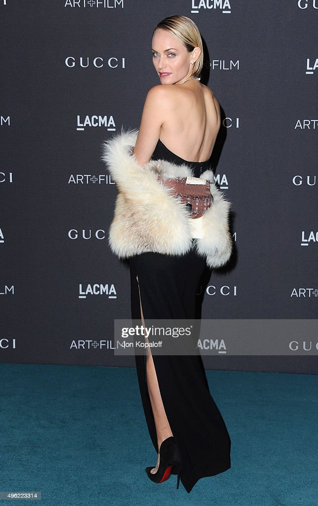 Actress Amber Valletta attends the LACMA Art Film Gala honoring Alejandro Gonzalez Iarritu and James Turrell and presented by Gucci at LACMA on...