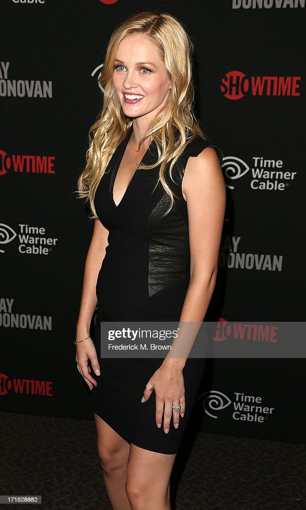 Actress <a gi-track='captionPersonalityLinkClicked' href=/galleries/search?phrase=Ambyr+Childers&family=editorial&specificpeople=4168377 ng-click='$event.stopPropagation()'>Ambyr Childers</a> attends Showtime's new series premiere of 'Ray Donovan' at the Directors Guild of America on June 25, 2013 in Los Angeles, California.