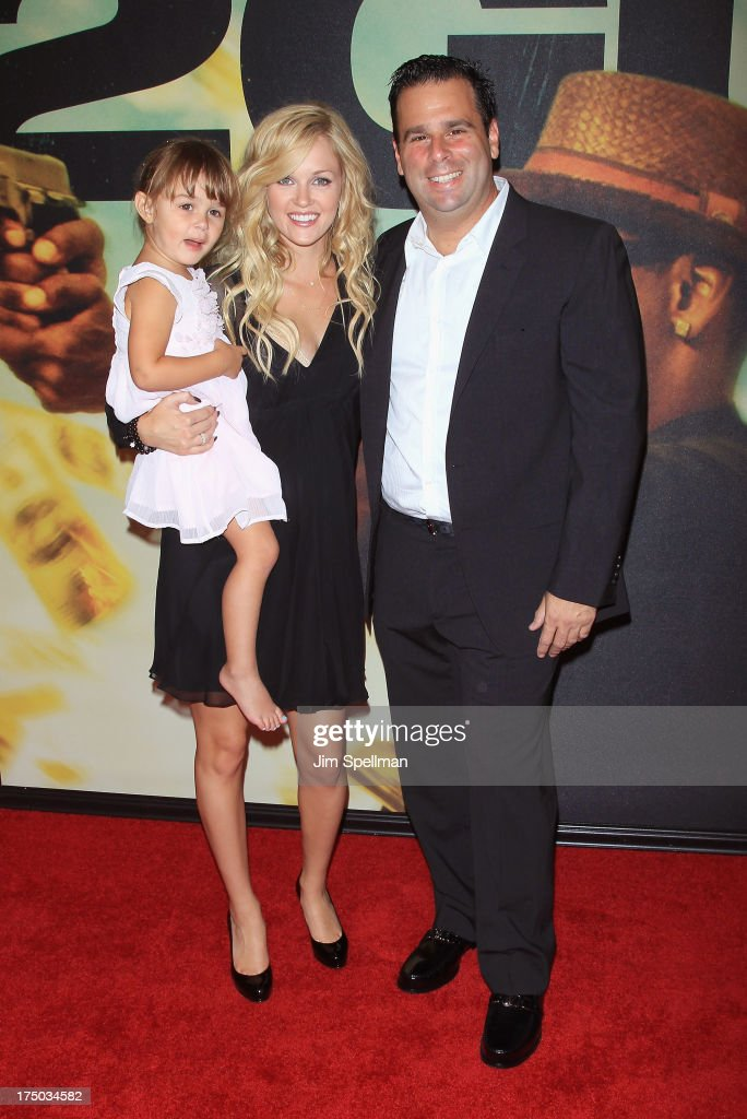 Actress Ambyr Childers (m), producer Randall Emmett and daughter London attend the '2 Guns' New York Premiere at SVA Theater on July 29, 2013 in New York City.